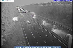 Junction 35a of M1 northbound this morning.