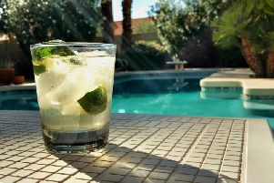 Love the idea of a relaxing drink by your own private pool?
