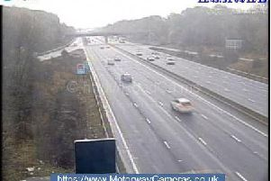 One lane closed at M1 northbound junction