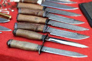 The number of knives being seized at courts in the East Midlands has fallen 75 per cent in the last year