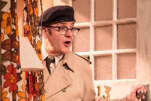 Joe Pasquale as Frank Spencer (Photo by Scott Rylander)