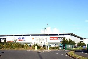 The Sports Direct distribution centre at Shirebrook