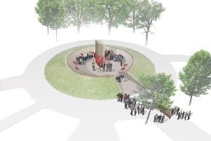 The winning design for the new country wide war memorial  for Nottinghamshire