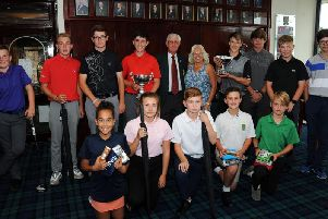 Winners at the 2018 Lee Westwood Junior Championship