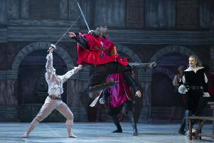 Northern Ballet's production The Three Musketeers. Photo by Emma Kauldhar.
