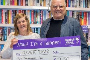 Bluebell Wood Children's Hospice has launched its 2018 Seasonal Superdraw, which was won last year by Lynne and Barrie Tarr of Chesterfield.
