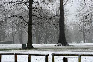 Today the weather is expected to be cold and wintry with highs of 7C.