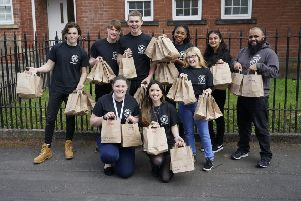 Back row is (left to right): NCS graduates Zac Emerton, Luca Geary, Matt Britton, Morgan Godden, Jai Virdi and NCS Head of Sales, Dil Malik.'Front row (left to right): Regional NCS Graduate Manager, Charlotte Drewett, Sophia Stewart and Jasmine Hazlehurst.