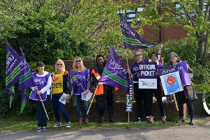 Catering staff are striking over pay at Bassetlaw Hospital