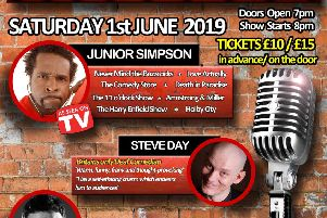 Competition tickets up for grabs to see Junior Simpson and co at Carlton Civic Centre comedy night