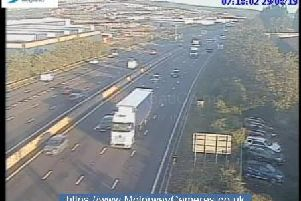 Junction 34 of the M1 this morning.