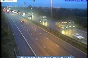 Junction 23a of the M1 northbound.
