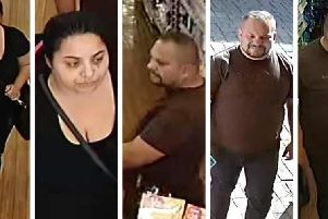 Derbyshire Police would like to speak to these people in connection with the theft of 100 worth of dental products from a shop in Ripley