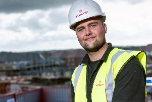 Luke Twigger, from Ilkeston, scooped the Redrow Homes East Midlands Apprentice of the Year title.