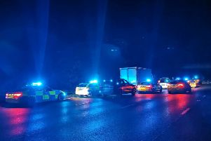 Police give chase after thieves 'slash curtains' and swipe toiletries from Derbyshire truck stop