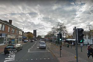 Police stopped a car on Market Street, Heanor. Pic: Google Images.