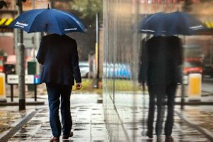 Storm Dennis is expected to hit South Yorkshire and Derbyshire with rain and strong winds.