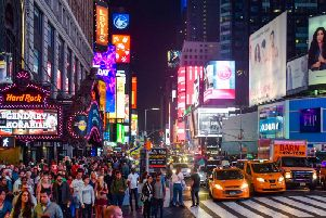 Times Square, one of Midtown's main attractions.