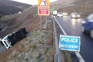 A picture from the scene of the accident (Photo: Highways Agency).