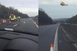 A picture of the scene of a serious accident that took place on the M1 on Saturday, December 30. Photo submitted by Simon Brunt.