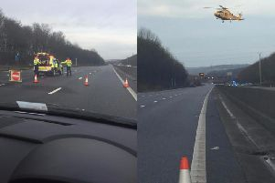 A picture of the scene of a serious accident that took place on the M1 on Saturday, December 30. Photos submitted by Simon Brunt.