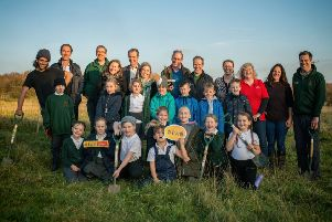 Mapperley Primary School pupils helped the Woodland Trust launch the UK's first Young People's Forest on land near Shipley Country Park last week. The mass youth engagement project will see a quarter of a million trees planted.