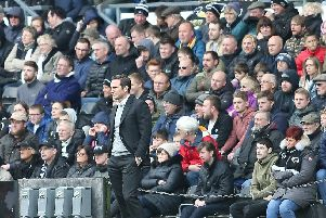 Frank Lampard watches on as Derby cruise to a 4-0 win.