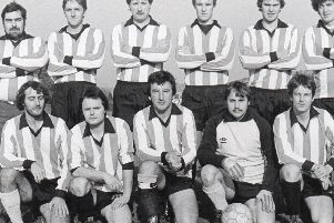 Members of Ripley Rangers FC lined up for a team shot back in 1983.