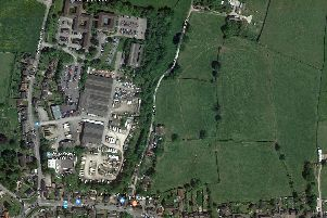 An overhead view of the site at Heage.