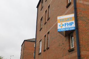 Part of the building is up for sale.