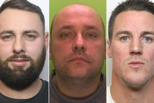 From left: Mousley, Devine, Streckis. Picture supplied by Derbyshire police.