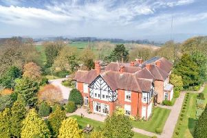 The property is in Quarndon in Derbyshire.