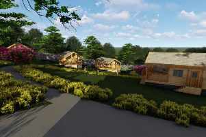 An artist's impression of the proposed chalets. Image from David Wilson.