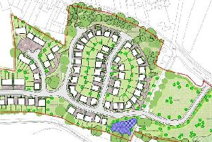 The site of the homes planned at Somercotes.