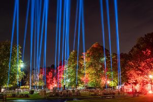 Spectacular - The wells within Harrogates Valley Gardens will be seen in the night sky for miles around. (Picture courtesy of Harrogate International Festivals)