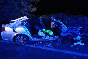 The A59 is closed after a serious crash. photo provided by Andy Creasey from North Yorkshire Fire and Rescue Service.