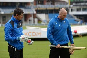 Yorkshire's coaching duo of Martyn Moxon and Andrew Gale will take the team to South Africa next March (Picture: Bruce Rollinson)