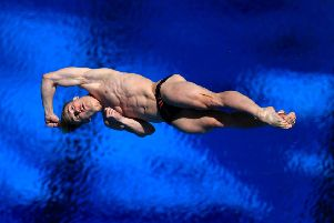Jack Laugher on his way to Commowealth glory on the Gold Coast. Picture: PA