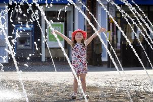 Hettie O'Keefe, aged 5 from Ossett, is pictured enjoying the weekend sunshine. Picture: Simon Hulme