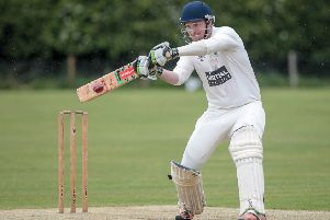 Tom Croston was in the runs as Birstwith edged out West Tanfield. Picture: Caught Light Photography