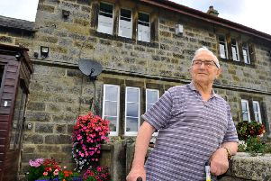 Reg Scaife, 79, outside his home near Hampsthwaite in North Yorkshire.