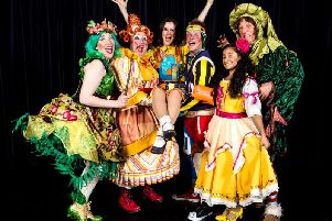 Festive cheer - Part of the cast of this years Harrogate Theatre panto.