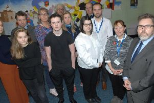Students and staff members of  Grove Academy in Harrogate. (1811272AM1)