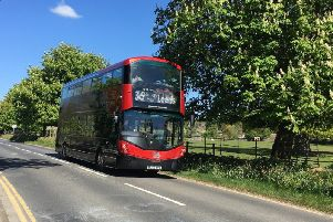 Hop aboard: The famous Harrogate no 36 bus to Leeds and Ripon.