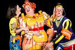 Fantastic panto at Harrogate Theatre - Jack and the Beanstalk stars Harriett Hare, Howard Chadwick and Tim Stedman.