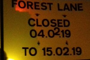 Another road closure sign in Harrogate this week.