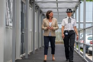 North Yorkshire Police, Fire and Crime Commissioner, Julia Mulligan, left.