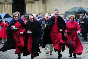 The pancake races have become a much-loved Ripon tradition.