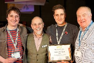 National winners - Harrogate family brewers Oliver, Ian and Tom Fozard, left, celebrate their win at the SIBA National Independent Beer Awards.