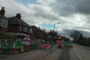 Harrogate's roadworks misery - This particular 'temporary' traffic control is located at Kingsley Road.